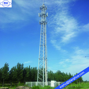 High Quality 3 Legs Tube Self Supporting Steel Hot Dip Galvanized Telecom Telecommunication Communication Cell Wifi Tower