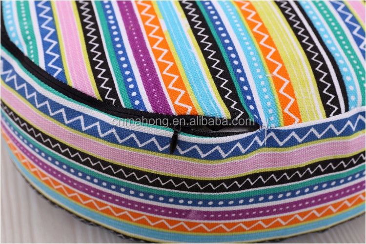 cotton fabric buckwheat filling customize cushion yoga meditation