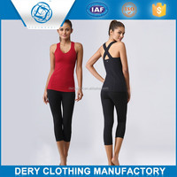 Professional lycra women wholesale yoga pants with soft spandex yarn