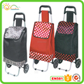Simple canvas foldable shopping trolley bag with customized logo