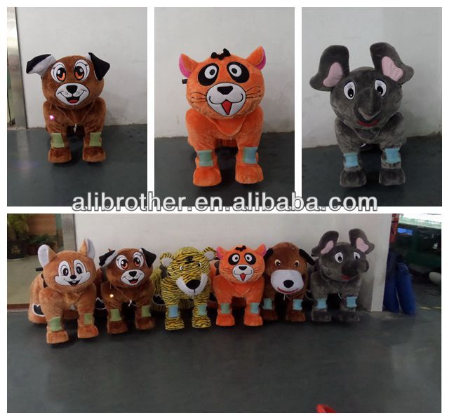 Newest outdoor kids Coin Operated Walking Battery Animal