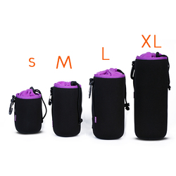 Photo Protective Soft Neoprene DSLR Camera Lens Pouch Protector Bag Soft Short Fluff Case Bags S, M, L, XL Set