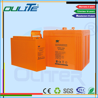 Oliter recharging 12V 100AH solar deep cycle high temperature battery
