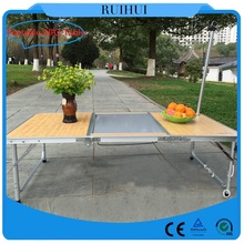 Leisure ways outdoor furniture aluminum camping table,retractable dining table
