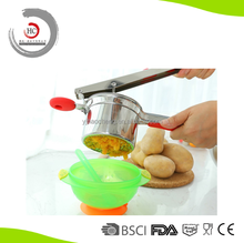 Stainless steel fruit press with comfortable silicone handle HC-PM17