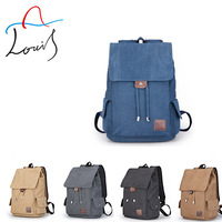 New laptop shoulder bag men's backpack Korean rucksack student bag fashion leisure vintage canvas backpack wholesale