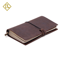classical refillable solf diary notebook vintage leather custom travel leather journal