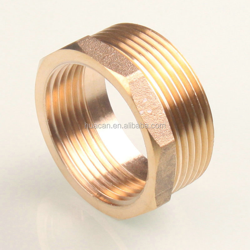 Brass pipe fitting reducing hex head bushing