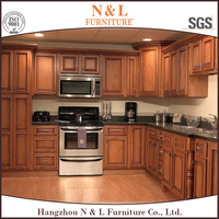 pecan wood kitchen cabinets Classic furniture cheap kitchen cabinets pvc cabinet kitchen