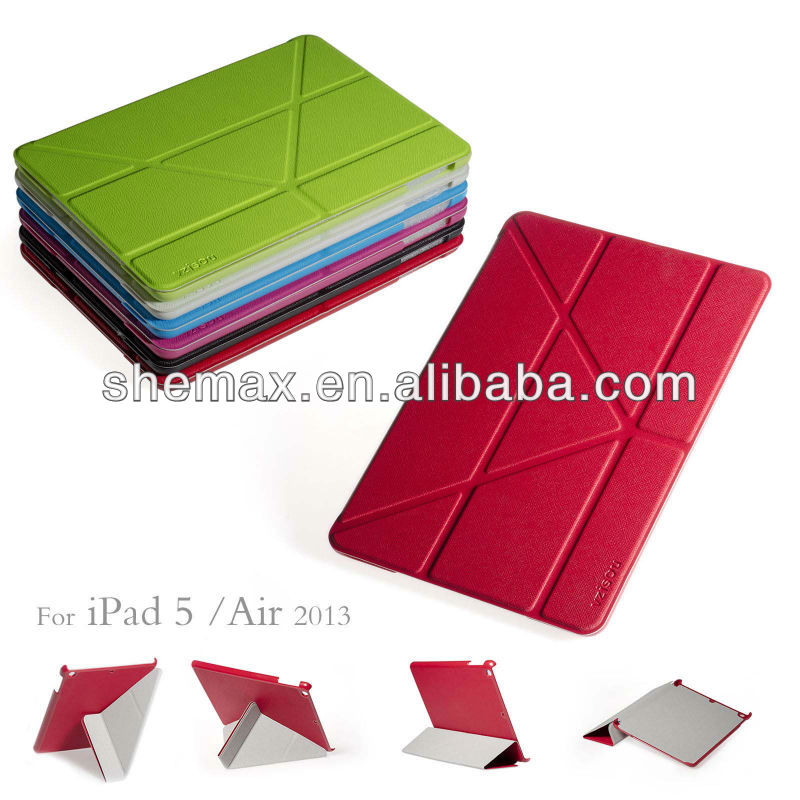 Hot Selling Laptop Bag, Slim PU Leather Smart Case Cover For Apple iPad Air