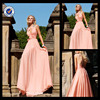 E0187 Hot Sale Long Red Back Open Sleeveless A-Line Beaded Sexy Prom Evening Gown