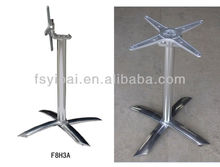 Metal Furniture Legs Aluminium Garden Folding Dining Bar Table Bases