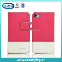 cell phone casing pu leather cover case for iphone 4