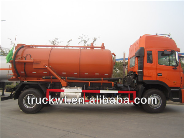 JAC 4x2 10000L vacuum sewer suction truck and sewage transportation truck