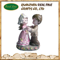 Resin wedding gifts dancing couple figurines