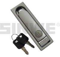 black or chrome plating zinc electrical panel lock key