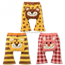 UCHOME high quality 100% cotton Lovely Four Color and Busha Baby Ninth Animals Pattern Pants