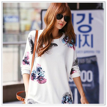 Customized 2014 Floral Digital Printing Cotton Sweater