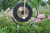 "14"" chau gong with mallet on stand/percussion gong/Chinese antique gongs"