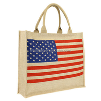 Eco-Friendly Natural Recycled Burlap Basic Shopping Euro Style Plain Jute Tote Bag