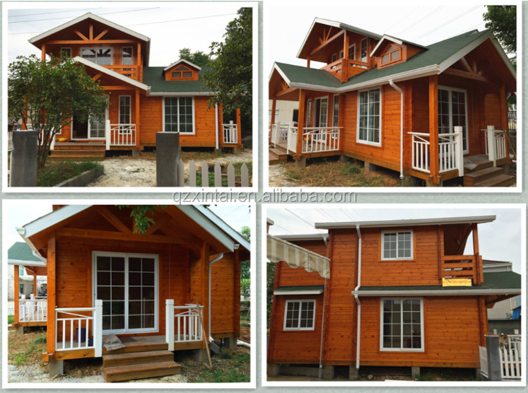 Cheap economic prefabricated wooden model kit house