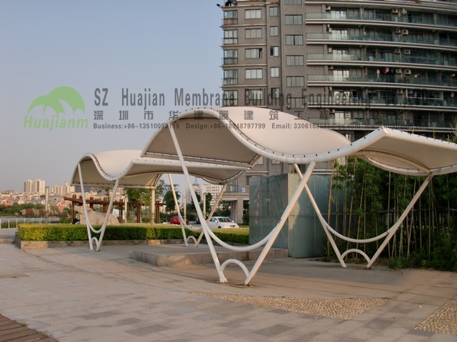 Architecture Membrane Structure landscape Leisure Center Canopy PVDF