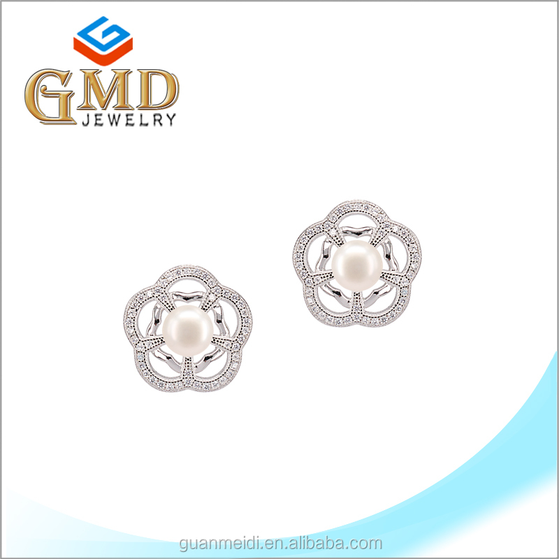 Manufacture china best quality fashionable silver 925 single stone earring designs