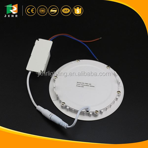 standerd sizes panel light / small round led panel light