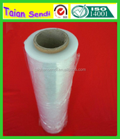 pe stretch film hand and machine pvc cling film for packaging hot sale