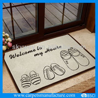 Knitted indoor cartoon door mat