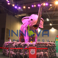 Animatronic artificial animal elephant for amusement park