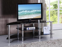 2016 Modern tv stand double curved glass in home furniture