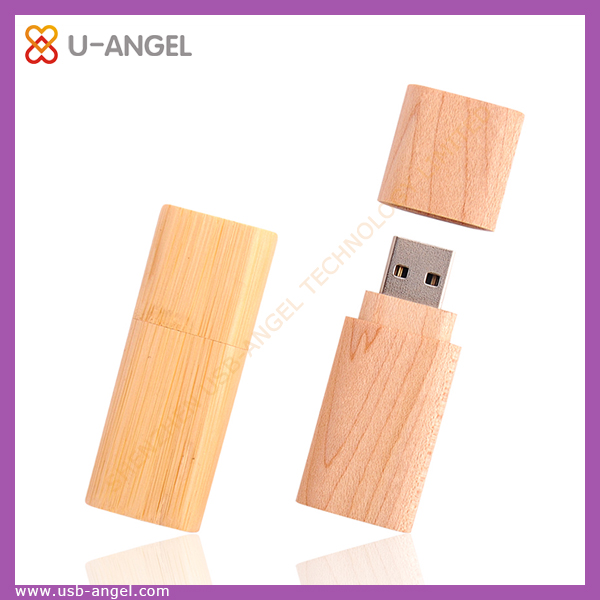 Fashion wooden usb flash drive with wooden box, wooden usb stick, OEM wooden usb pen drives