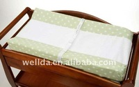 fabric cover with foam baby changing pad