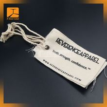 Hand made canvas hang tag for clothing