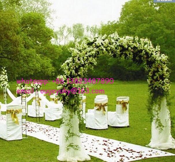 White Metal Wedding Flower Arch Garden Flower Decorative Arch Wholesale View Wedding Arch