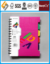 mini notebook/ lovely plastic good quality spiral ringed notebooks