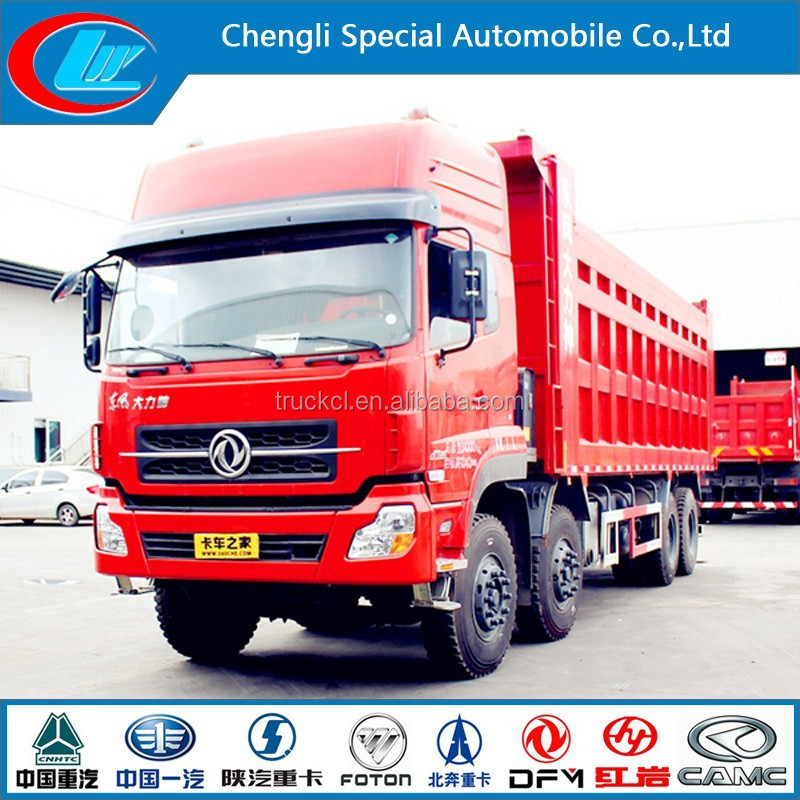 Dongfeng 8x4 12 wheel tipper truck dump truk for sale