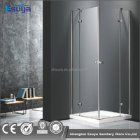 frameless swing hinge door shower room square shape shower cubicles with pure acrylic tray