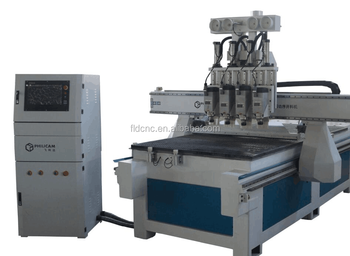 China CNC Router with four spindles for wood