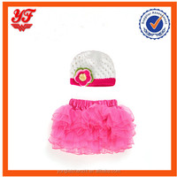 Beautiful baby cloth dress and hat set
