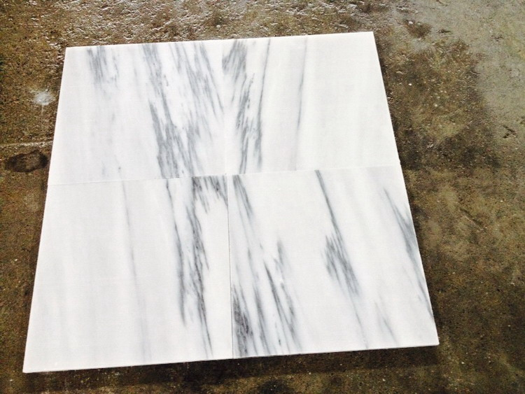 Best quality hot sale popular red line cream marble tile