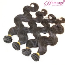 homeage Factory cheap remy bresilienne human hair body wave hair weaving