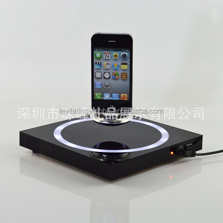 wholesale customized Advertising Cell phone magnetic Levitation display stand