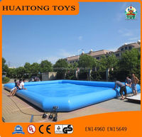 2016 large square inflatable swimming pool all size for sale, high quality durable PVC ground inflatable swimming pool.