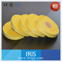 Yellow color Cotton Flannel Buffing & Polishing wheels for most buffing and polishing jobs