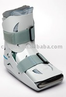 Plastic shell walker brace with air bags for protecting ankle