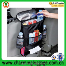 travel storage car back seat organizer cooler bag/drinks holder bottle bag
