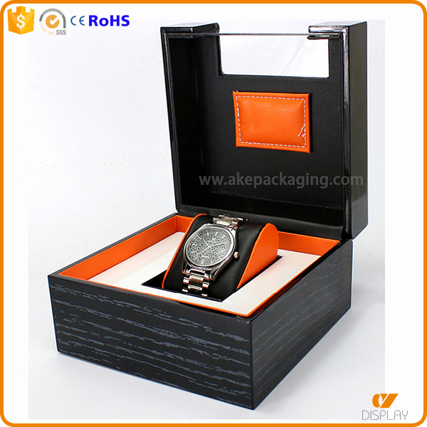 grained custom design wooden lacquer matt finised luxury men watch box