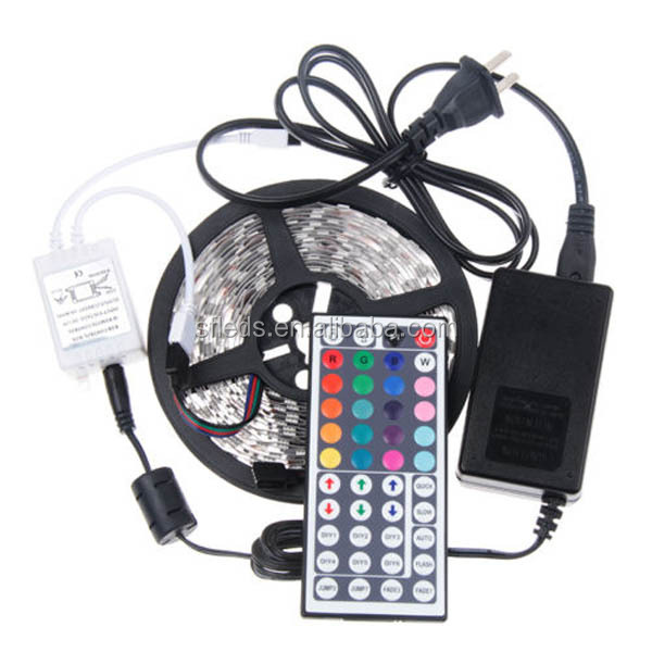 remote controlled battery operated led strip light rgb kit. Black Bedroom Furniture Sets. Home Design Ideas